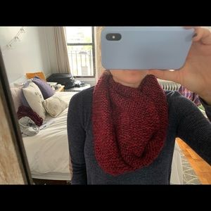 Loft Pink/Red Infinity Scarf